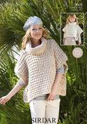 Sirdar Ladies & Girls Ponchos Knitting Pattern 9605 Super Chunky
