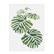 Nordic Style Pastoral Green Plant Leaves Modern Minimalist Decorative Painting