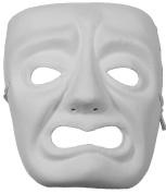 Masquerade Masks Jabbawockeez Style Venetian Masquerade White Grumpy Face Mask