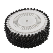 480 x Round Faux Pearl Head Pins for Dressmaking Sewing Craft Wedding Decoration Black By Accessories Attic®