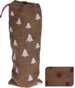 Hessian Jute Christmas Xmas Festive Wine Bottle Gift Present Stocking Sack Bag
