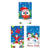 24 Kids Xmas Christmas Party Bag Filler Notepads Books & FREE 3D STICKERS 2016