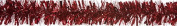 Red Thick and Thin Christmas Tinsel 2m