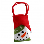 ALCYONEUS Christmas Santa Claus/Snowman/Elk Candy Bag Pouch Cute Kids Gift Xmas Decor size Snowman