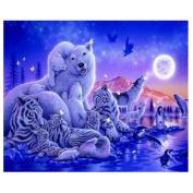 DIY 5D Diamond Embroidery Painting Cross Stitch Kit Tiger Animal Home Decor Diamond Painting Kits