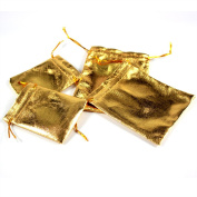 Nacpy Cloth Gift Bags Jewellery Pouches Wrap Packing Pouches Wedding Party Favour Bags 9cm*12cm 25pcs Gold