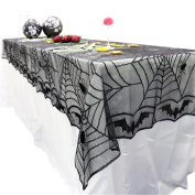 CHIC*MALL Halloween Custom Spider Web Tablecloth Party Table Decorations