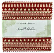 Fabric Freedom Scandi Christmas Freedom Charm, 100% Cotton, Multicoloured, 13 x 13 x 1.5 cm