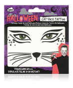 NPW NP36589 Halloween Cat Face Tattoo