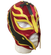 UK Halloween Carnival Cosplay Red Wrestling Rey Mysterio Son Of The Devil Zip Up - Childrens Full Head Mask - Fancy Dress Up Costume Outfit WWE Party