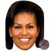 Michelle Obama Celebrity Mask, Card Face and Fancy Dress Mask
