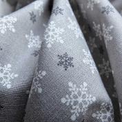 Snowflake printed Christmas Cotton Fabric