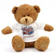 The Worlds Best Bar Worker Teddy Bear