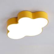 Buluke Children's Room Bedroom LED Acrylic Clouds Ceiling light 50cm,yellow