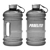 ProElite Unisex Half Gallon Bottle, Black, 2.2 litre