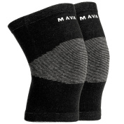 Mava Sports Knee Support Sleeves for Joint Pain and Arthritis Relief – Compression Recovery Knee Sleeves – Protector and Support for Running, Jogging, Cycling, Hiking, Workouts – Safe, Durable, Breathable Compression