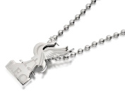 Stainless Steel Liverpool Liverbird Pendant And Ball Chain