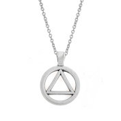 Zinc Alloy AA Symbol Alcoholics Anonymous Pendant Necklace Jewellery Gifts