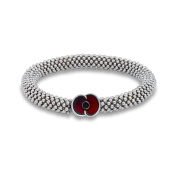 The Royal British Legion The Poppy Collection Bead and Poppy Charm Bracelet