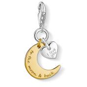 "Thomas Sabo ""Moon & Heart I Love You To The Moon & Back"" Charm Pendant"