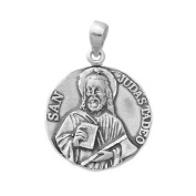 Pendant silver medal law 925m 27mm St. Jude Thaddeus. [AB0702]