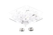 Birth Stone Jewels 6x4 mm Diamond White Oval Cut Cubic Zirconia Gem Stones Pack Of 2