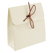 Slim Tall Simple Favour Box - Minimal Weddings Craft Jewellery Favours [Ivory, 10 Boxes]