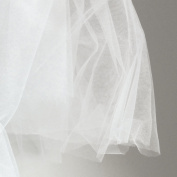 Super fine white soft illusion tulle fabric 150cm wide - very delicate veiling fabric - sold by the metre - prom, underskirt, veil