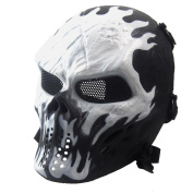 LuckyBB Halloween Mask, Airsoft Paintball Full Face Skull Skeleton CS Mask Tactical Military Mask