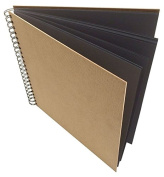Artway Enviro (Recycled) Large Square Black Paper / Card (270gsm) Sketchbook with Natural Hardboard Covers. 285mm x 285mm