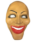 Purge Face Style Latex Mask - Fancy Dress Up Halloween Attire - Universal Size With Elasticated Strap