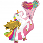 Amscan International 3561201 Winged Unicorn Foil Balloon