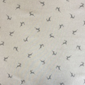 "Stags Grey Design Cotton Rich Linen Look Fabric For Curtains Blinds Craft Quilting Patchwork & Upholstery 55"" 140cm Wide – Sold by the Metre"