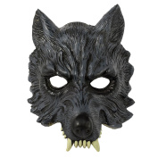 Adults Snarling Werewolf Half Face Mask Halloween Accessory