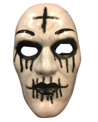 The Purge 'Cross' Mask From Purge Anarchy 2 Halloween Movie - Hard Plastic - Universal Size