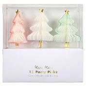Honeycomb Christmas Tree Party Picks