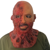 Burnt man zombie Burnt man face zombie mask mask Head made of very high quality latex material with openings to eyes Halloween carnival carnival costume fairing for adults men and women women men creepy creep zombie monster demon horror party party