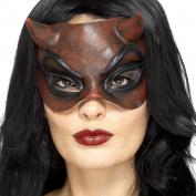 Female Latex Red Devil Masquerade Ball Eyemask Halloween Accessory