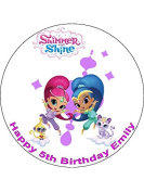 7.5 Shimmer and Shine Edible Icing Birthday Cake Topper
