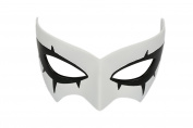Xcoser White Resin Masquerade Cosplay Mask Halloween Fancy Dress for Adult