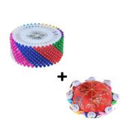 Waterstone Needle Pin Cushion With 8 Kids, With 480PCS Colourful Pearl Head Needlework Pins