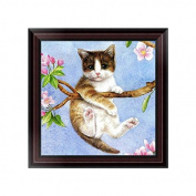 MORESAVE 5d Diamond Painting Dog Cat Animals Cross Stitch Kits Home Decoration (Cat