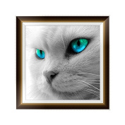 MORESAVE 5d Diamond Painting Dog Cat Animals Cross Stitch Kits Home Decoration (Cat