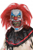 Amscan Mens Halloween Slasher Clown Mask Fancy Dress Costume Accessory