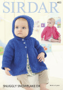 Sirdar 4822 Knitting Pattern Baby Collared and Hooded Jackets in Sirdar Snuggly Snowflake DK