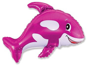 Pink Whale Shaped 70cm Foil Balloon