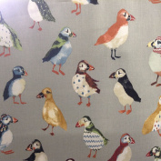 Puffin Pelt Grey Prestigious Textiles Designer Material Sewing Upholstery Curtain Craft Fabric (Half metre)