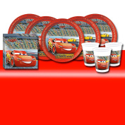 Disney Cars 3 Children's Birthday Tableware Party Pack Kit For 16 Guests