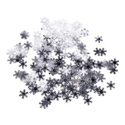 Different Coloured Snowflake/Snowball Confetti Sprinkles for Tables, presents and Cards - Ideal for Christmas Celebration Partys, Kids Frozen/Winter Themed Party, Birthdays, weddings - 14g in Each Pack of Confetti