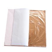 100 sheets 14 X 14cm Imitation gold leaf rose gold leaf foil red genuine 100% copper leaf #0 Luxurious